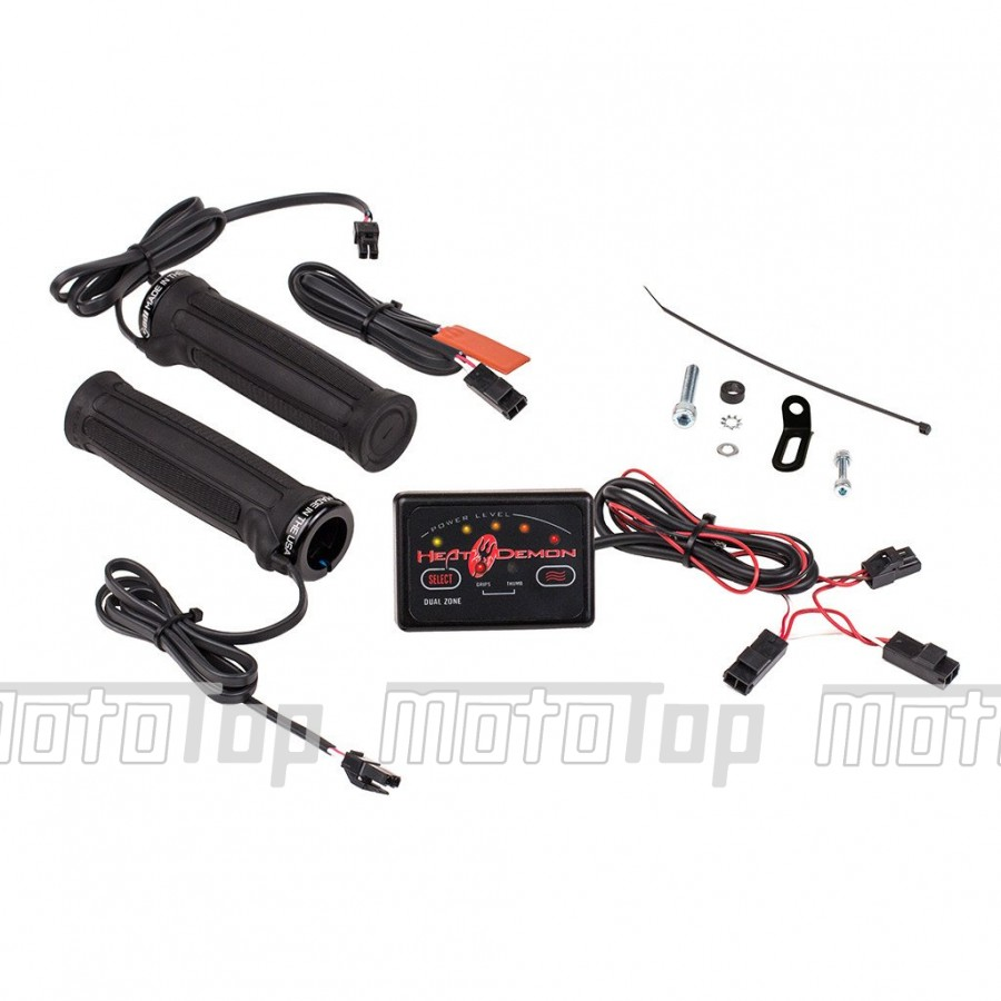 ATV Heated Grip Kit with Dual Zone Controller