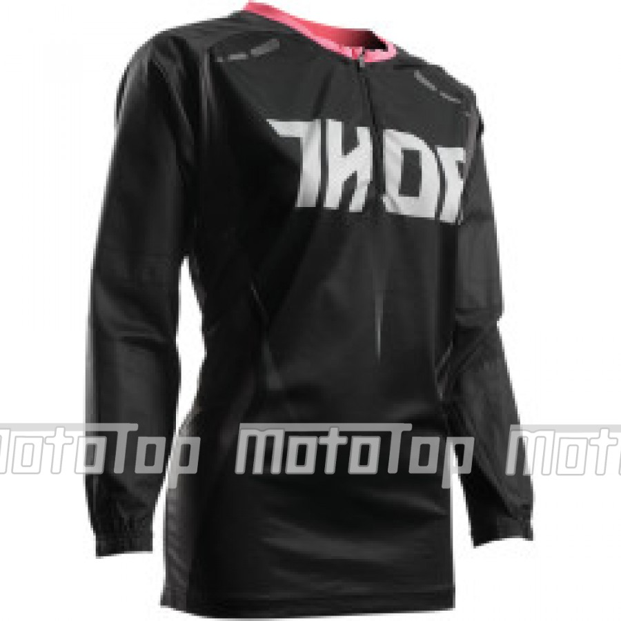 Moteriški marškinėliai WOMEN TERRAIN CONTOUR S7 OFFROAD JERSEY BLACK/PINK SMALL