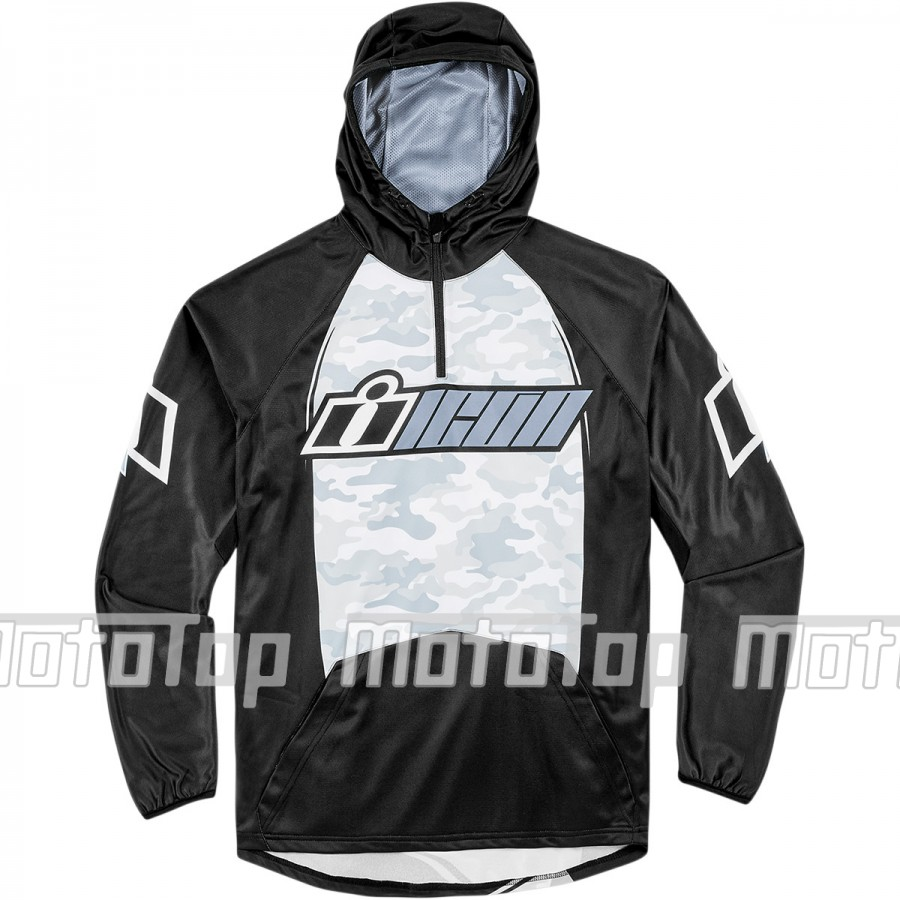 Marškinėliai Icon SINGLE STACK™ RAGLAN HOODY GRAY