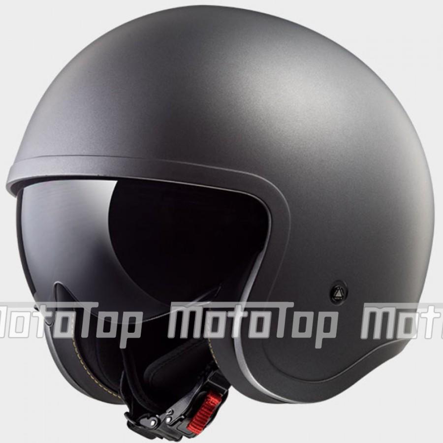 Šalmas LS2 Helmet OF599 SPITFIRE SOLID Matt Titanium