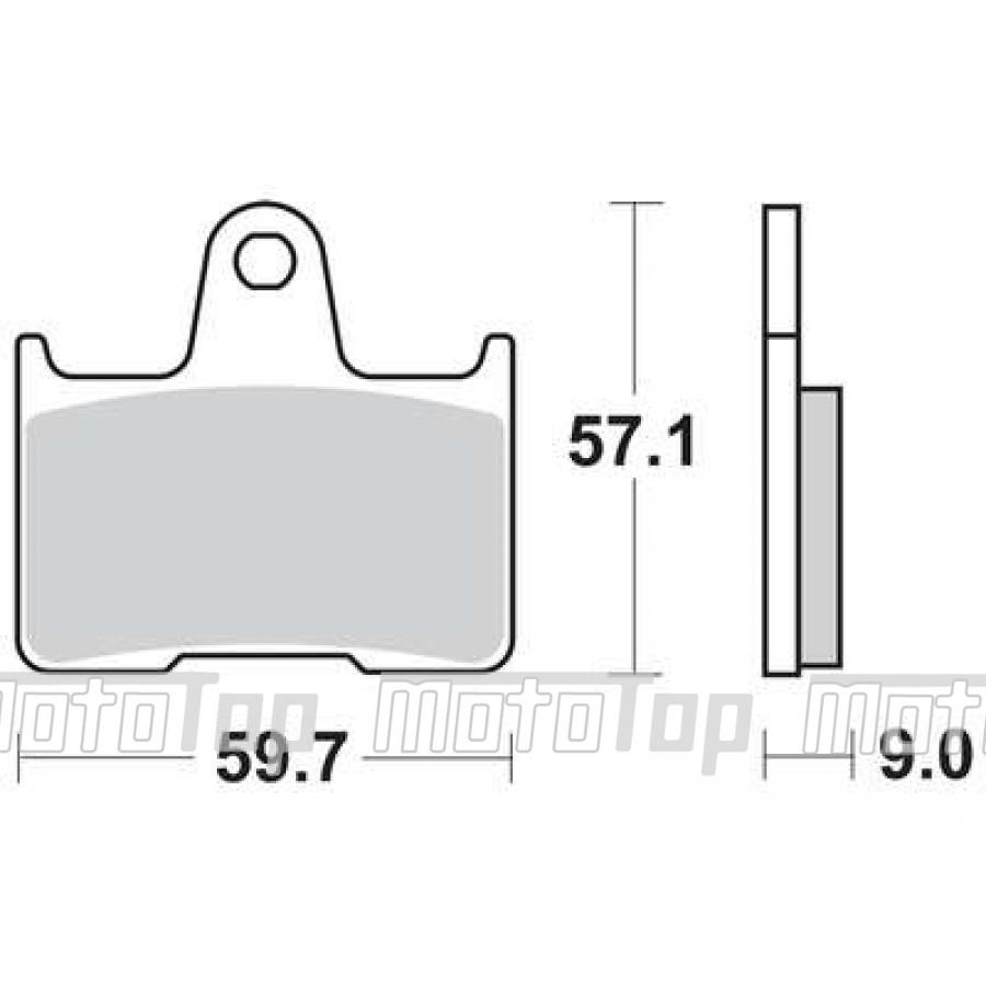 Stabdžių trinkelės TRW MCB729SH