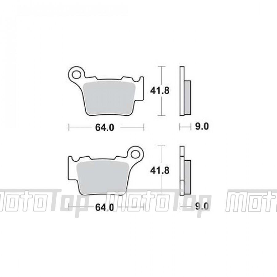 Stabdžiu-trinkeles-(galas)-Aprilia-BMW-Husaberg-Husqvarna-KTM-Yamaha-MCB743SI