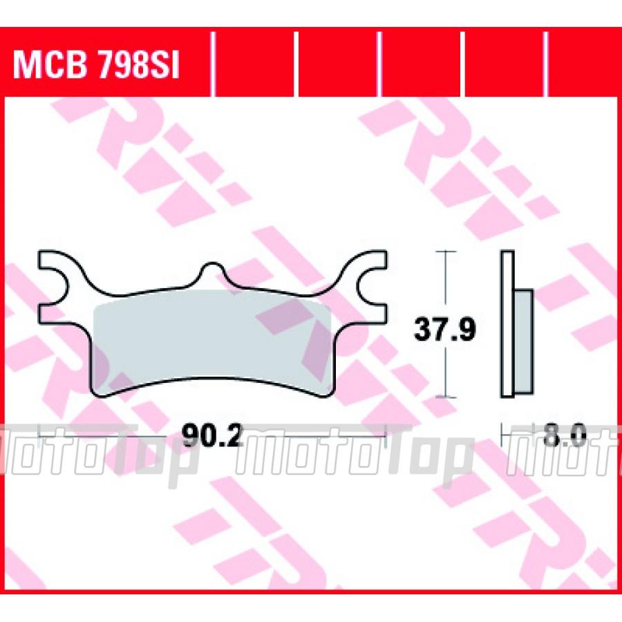 Stabdžių kaladėlės TRW MCB798SI Polaris