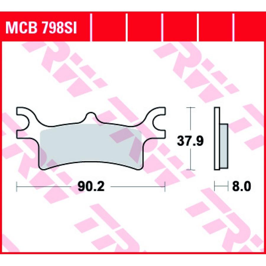 Stabdžių trinkelės TRW MCB798SI Polaris