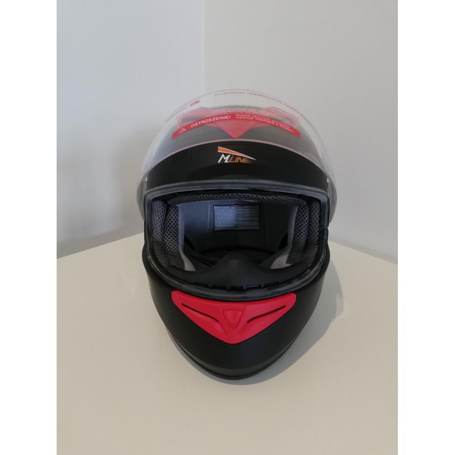 Šalmas M-LINE  V121 Red Raudona/Juoda