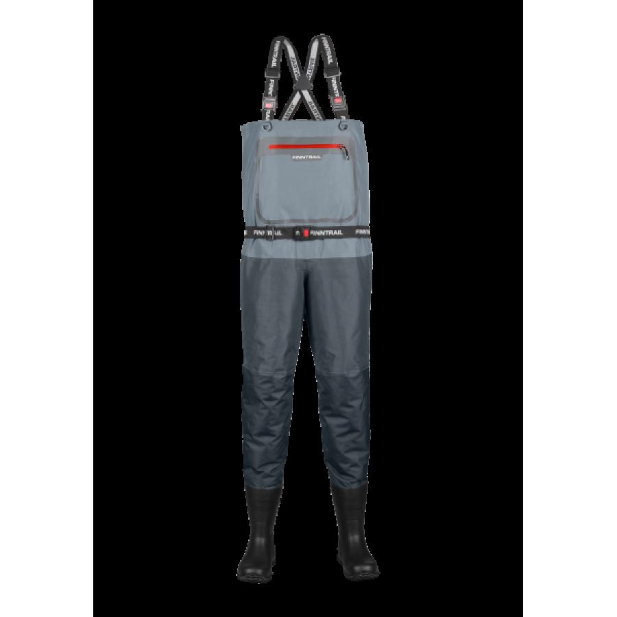 Kombinezoninės kelnės su batais Finntrail Airman Grey