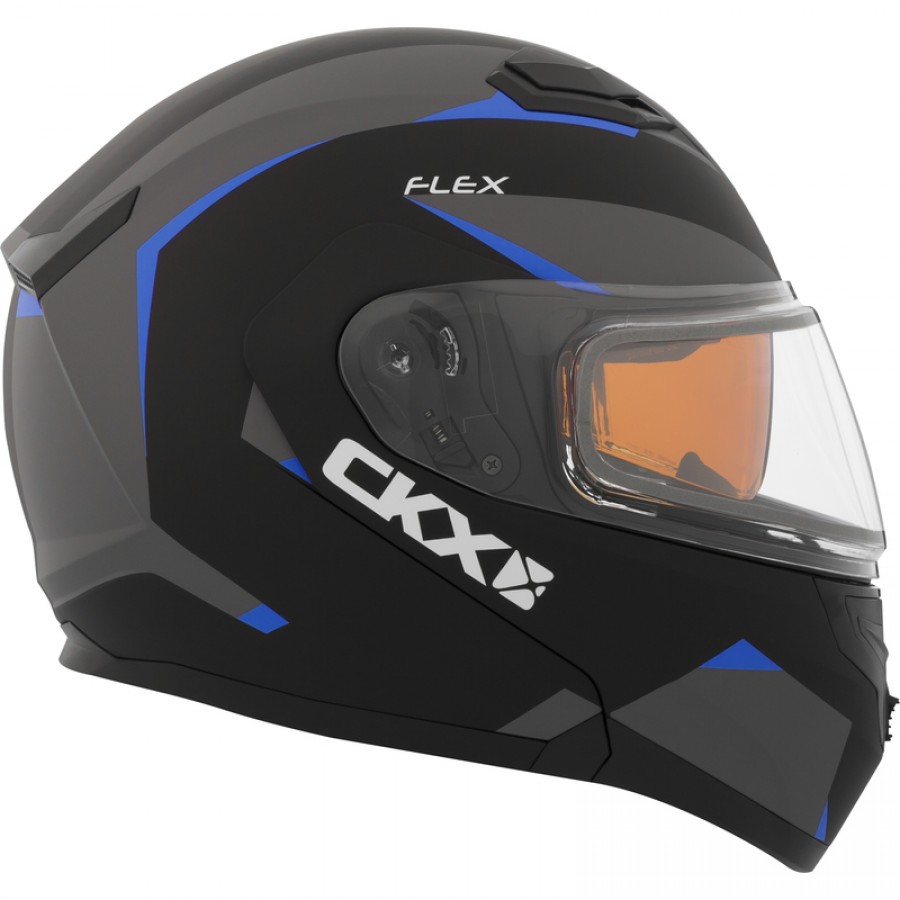 Šalmas CKX Helmet, Flip-Up Flex RSV Control Blue Electrical visor