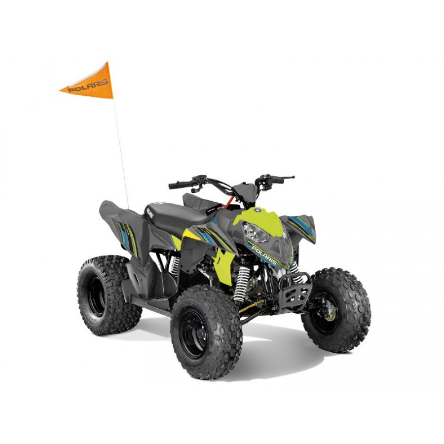 Polaris Outlaw 110 EFI Gray/Lime Squueze keturratis