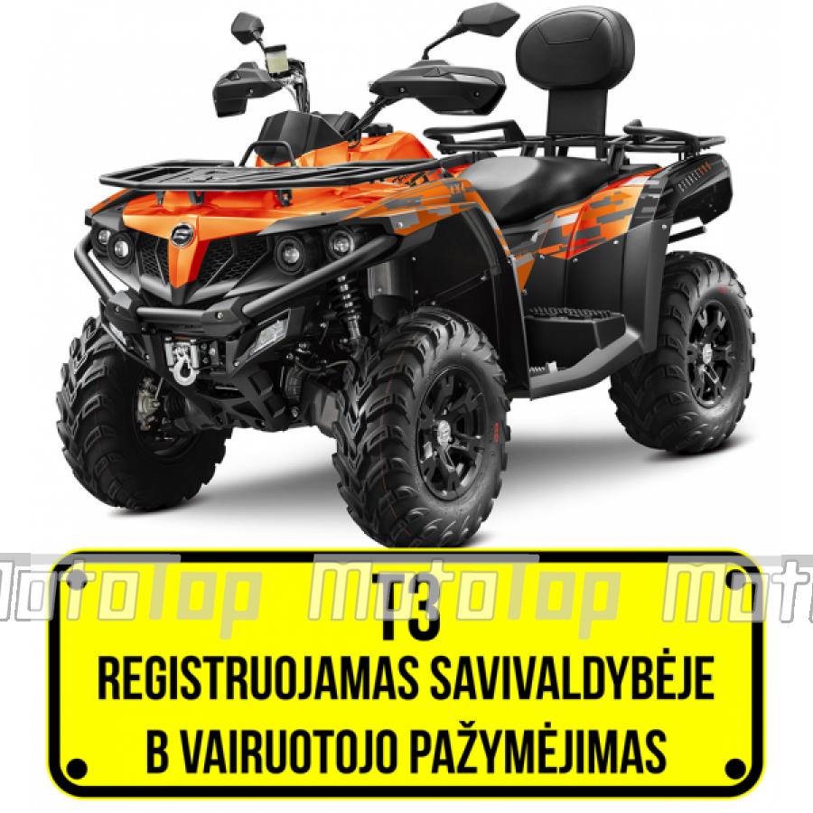 CFMOTO CFORCE 600 Keturratis (mini traktorius) T3b