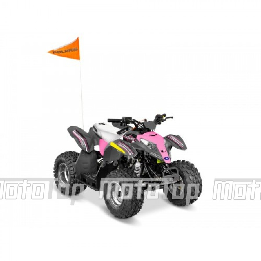 Polaris Outlaw 110 EFI Lime-Pink Squueze keturratis