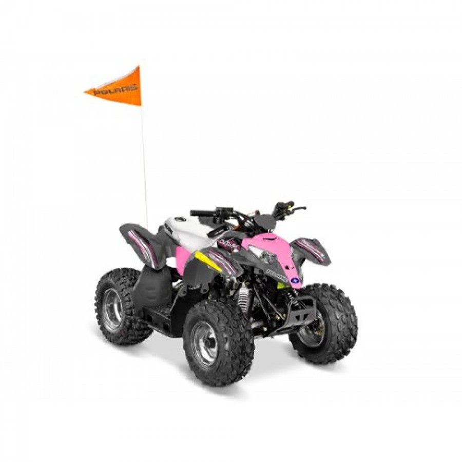 Polaris Outlaw 110 EFI Lime-Pink Squueze keturratis