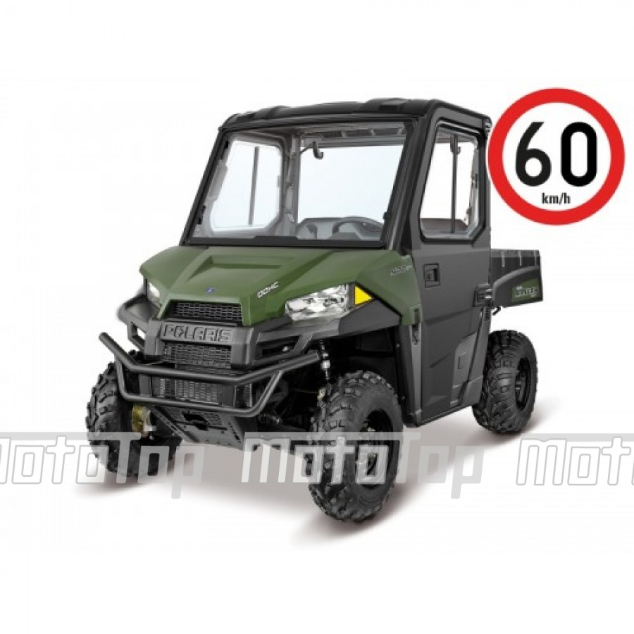 Polaris Ranger 570 EFI EPS Cabin 4x4 Green 60km/h. T1b keturratis