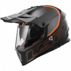 LS2 MX436 Šalmas Pioneer Element Matt Black Titanium  L