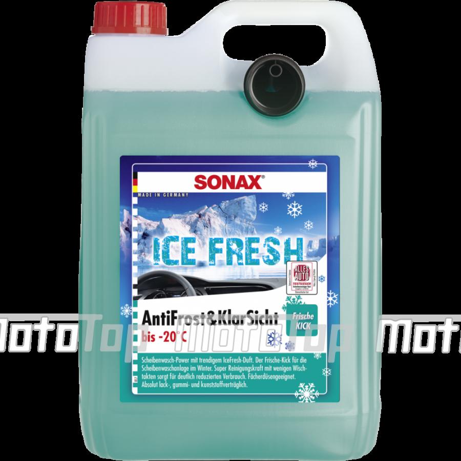 """SONAX žieminis langų apiplovimo skystis paruoštas naudojimui """"Ice Fresh"""" -20°C 5l"""